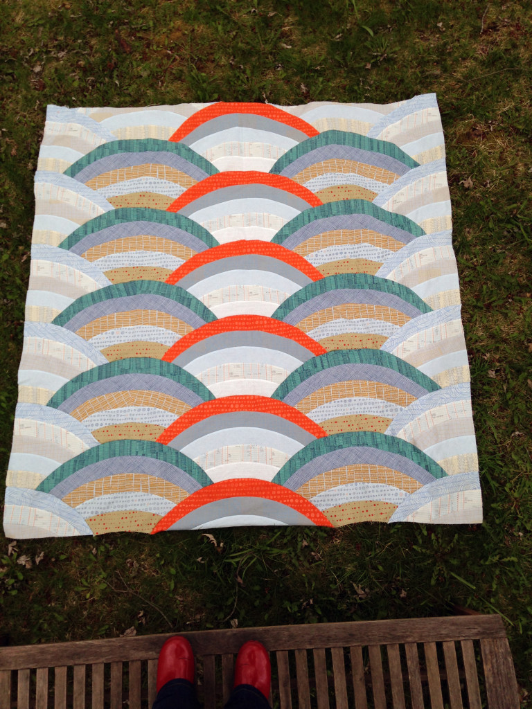 Giedra Bowser's (@threadnhoney) Molehills Quilt and fun red shoes